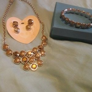 Brighton necklace bracelet earring set